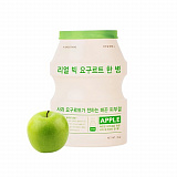 Маска для лица A'PIEU Real Big Yogurt One Bottle Apple тканевая 21г